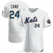 Mens Robinson Cano New York Mets #24 Authentic White Home A592 Jersey