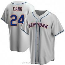 Mens Robinson Cano New York Mets #24 Replica Gray Road A592 Jerseys