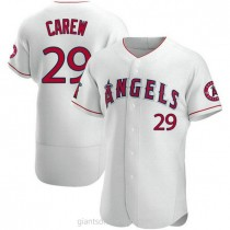 Mens Rod Carew Los Angeles Angels Of Anaheim #29 Authentic White A592 Jerseys