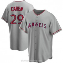 Mens Rod Carew Los Angeles Angels Of Anaheim #29 Replica Silver Road A592 Jerseys