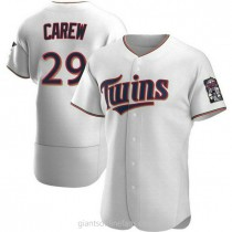 Mens Rod Carew Minnesota Twins #29 Authentic White Home A592 Jersey