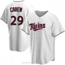 Mens Rod Carew Minnesota Twins #29 Replica White Home A592 Jerseys