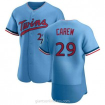 Mens Rod Carew Minnesota Twins Authentic Light Blue Alternate A592 Jersey