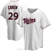 Mens Rod Carew Minnesota Twins Replica White Home A592 Jersey