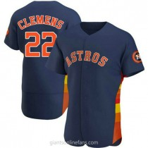 Mens Roger Clemens Houston Astros #22 Authentic Navy Alternate A592 Jersey