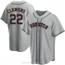Mens Roger Clemens Houston Astros #22 Replica Gray Road A592 Jerseys