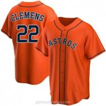Mens Roger Clemens Houston Astros #22 Replica Orange Alternate A592 Jerseys
