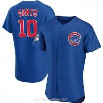 Mens Ron Santo Chicago Cubs #10 Authentic Royal Alternate A592 Jerseys