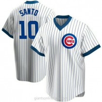 Mens Ron Santo Chicago Cubs #10 Replica White Home Cooperstown Collection A592 Jersey