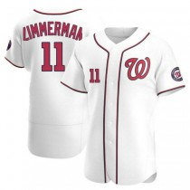 Mens Ryan Zimmerman Washington Nationals #11 Authentic White Home A592 Jersey