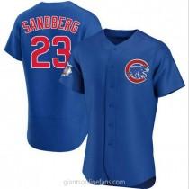 Mens Ryne Sandberg Chicago Cubs #23 Authentic Royal Alternate A592 Jerseys