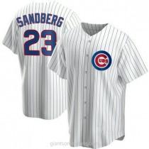 Mens Ryne Sandberg Chicago Cubs #23 Replica White Home A592 Jersey