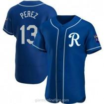 Mens Salvador Perez Kansas City Royals Authentic Royal Alternate A592 Jersey