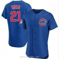 Mens Sammy Sosa Chicago Cubs #21 Authentic Royal Alternate A592 Jerseys