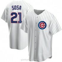 Mens Sammy Sosa Chicago Cubs #21 Replica White Home A592 Jersey