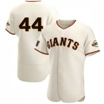 Mens San Francisco Giants #44 Willie Mccovey Authentic Cream Home Jersey