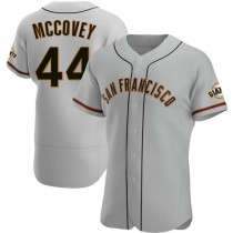 Mens San Francisco Giants #44 Willie Mccovey Authentic Gray Road Jersey