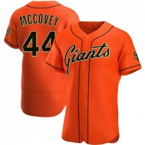 Mens San Francisco Giants #44 Willie Mccovey Authentic Orange Alternate Jersey