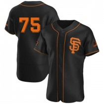 Mens San Francisco Giants Barry Zito Authentic Black Alternate Jersey
