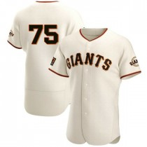 Mens San Francisco Giants Barry Zito Authentic Cream Home Jersey