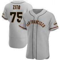Mens San Francisco Giants Barry Zito Authentic Gray Road Jersey