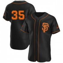 Mens San Francisco Giants Brandon Crawford Authentic Black Alternate Jersey