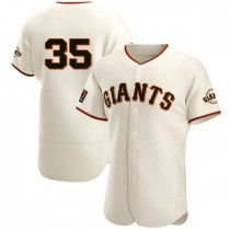 Mens San Francisco Giants Brandon Crawford Authentic Cream Home Jersey