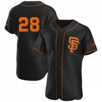 Mens San Francisco Giants Buster Posey Authentic Black Alternate Jersey