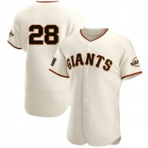 Mens San Francisco Giants Buster Posey Authentic Cream Home Jersey