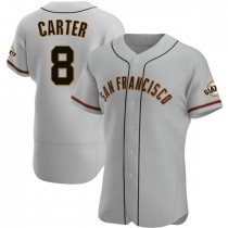 Mens San Francisco Giants Gary Carter Authentic Gray Road Jersey
