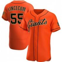 Mens San Francisco Giants Tim Lincecum Authentic Orange Alternate Jersey