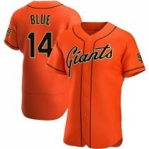 Mens San Francisco Giants Vida Blue Authentic Orange Alternate Jersey