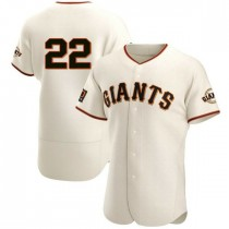Mens San Francisco Giants Will Clark Authentic Cream Home Jersey