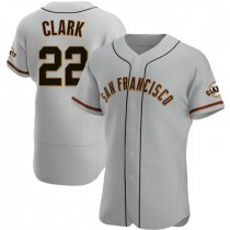 Mens San Francisco Giants Will Clark Authentic Gray Road Jersey