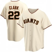 Mens San Francisco Giants Will Clark Replica Cream Home Jersey