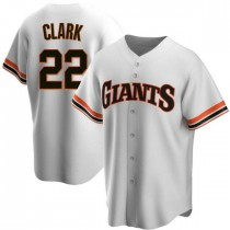 Mens San Francisco Giants Will Clark Replica White Home Cooperstown Collection Jersey