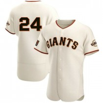 Mens San Francisco Giants Willie Mays Authentic Cream Home Jersey