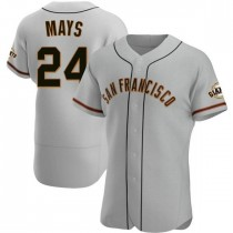 Mens San Francisco Giants Willie Mays Authentic Gray Road Jersey
