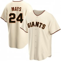 Mens San Francisco Giants Willie Mays Replica Cream Home Jersey