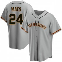 Mens San Francisco Giants Willie Mays Replica Gray Road Jersey