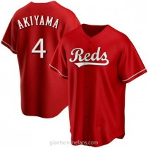 Mens Shogo Akiyama Cincinnati Reds #4 Replica Red Alternate A592 Jersey