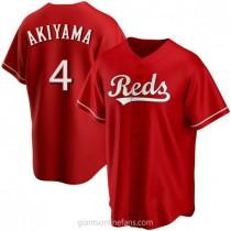Mens Shogo Akiyama Cincinnati Reds #4 Replica Red Alternate A592 Jerseys