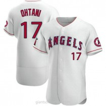 Mens Shohei Ohtani Los Angeles Angels Of Anaheim #17 Authentic White A592 Jerseys