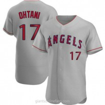 Mens Shohei Ohtani Los Angeles Angels Of Anaheim Authentic Gray Road A592 Jersey