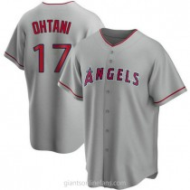 Mens Shohei Ohtani Los Angeles Angels Of Anaheim Replica Silver Road A592 Jersey