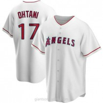 Mens Shohei Ohtani Los Angeles Angels Of Anaheim Replica White Home A592 Jersey