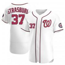 Mens Stephen Strasburg Washington Nationals #37 Authentic White Home A592 Jersey