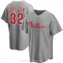 Mens Steve Carlton Philadelphia Phillies #32 Replica Gray Road A592 Jersey