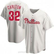 Mens Steve Carlton Philadelphia Phillies #32 Replica White Home A592 Jersey