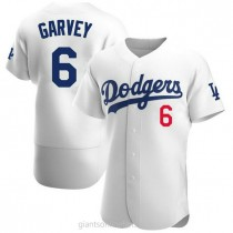 Mens Steve Garvey Los Angeles Dodgers #6 Authentic White Home Official A592 Jerseys